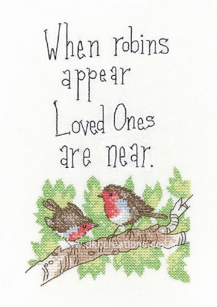 When Robins Appear  Cross Stitch Kit